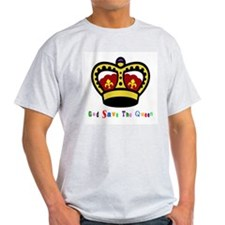 GOD SAVE THE QUEEN! Ash Grey T-Shirt