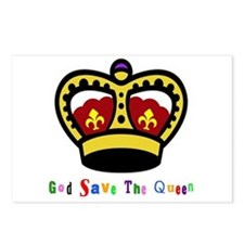GOD SAVE THE QUEEN! Postcards (Package of 8)