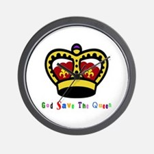 GOD SAVE THE QUEEN! Wall Clock