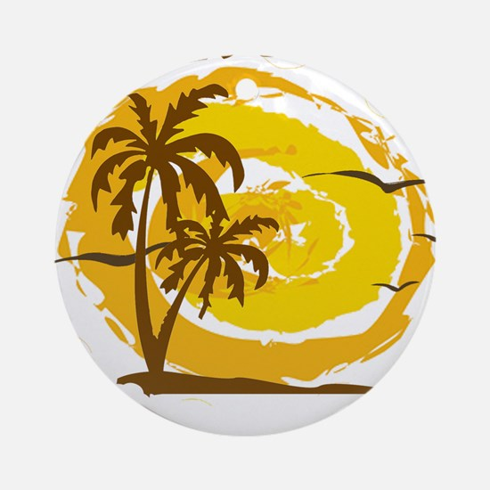 Summer destin- florida Round Ornament