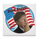 Dave Barry For President Tile Coaster