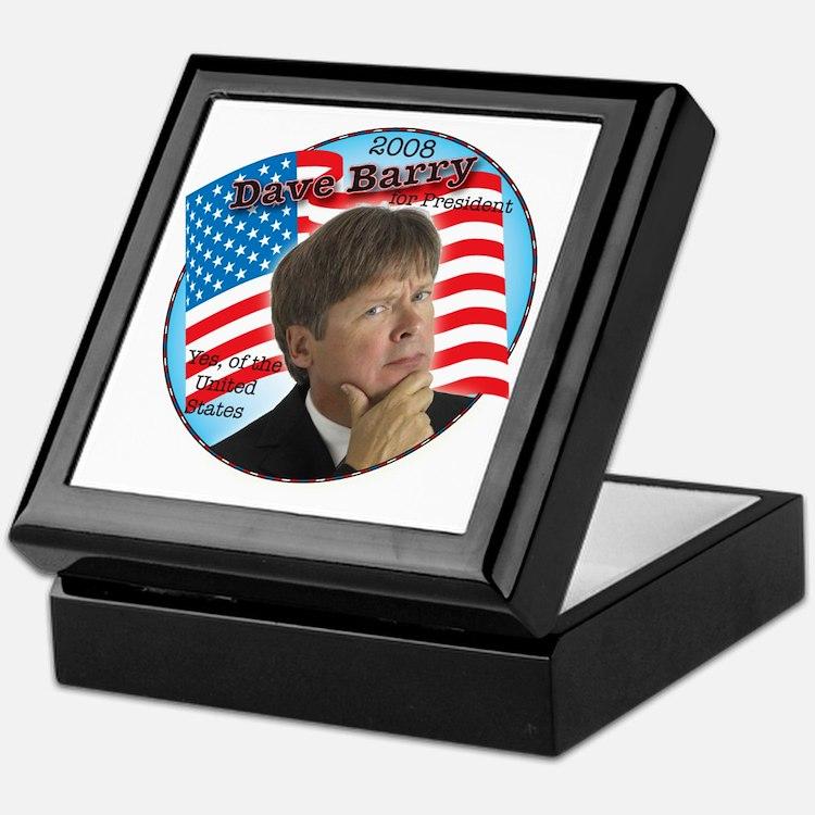 Dave Barry For President  Keepsake Box