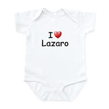 I Love Lazaro (Black) Infant Bodysuit