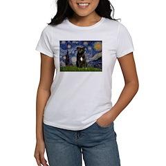 Starry-Am.Staffordshire (blk) Women's T-Shirt