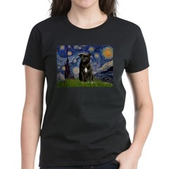 Starry-Am.Staffordshire (blk) Women's Dark T-Shirt