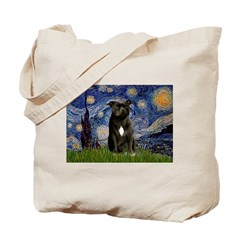 Starry-Am.Staffordshire (blk) Tote Bag
