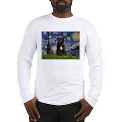 Starry-Am.Staffordshire (blk) Long Sleeve T-Shirt