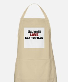 Real Women Love Sea Turtles BBQ Apron