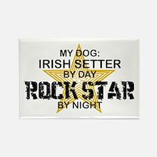 Irish Setter RockStar Rectangle Magnet
