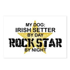 Irish Setter RockStar Postcards (Package of 8)