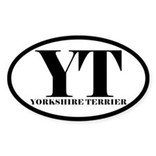 YT Abbreviated Yorkshire Terrier Decal