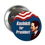100 Kucinich for President Buttons