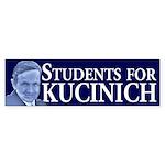 Students for Kucinich bumper sticker