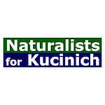 Naturalists for Kucinich Bumper Sticker