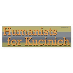 Humanists for Kucinich bumper sticker