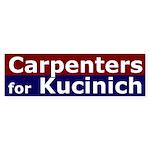 Carpenters for Kucinich bumper sticker