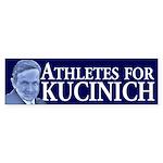 Athletes for Kucinich bumper sticker