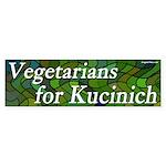 Vegetarians for Kucinich bumper sticker