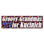 Groovy Grandmas for Dennis Kucinich sticker