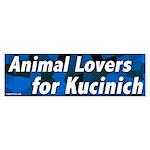 Animal Lovers for Kucinich bumper sticker