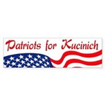 Patriots for Kucinich Bumper Sticker