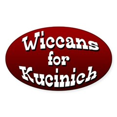 Wiccans for Kucinich Oval Bumper Decal