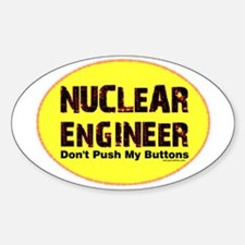 Nuclear Engineer Oval Decal