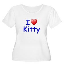 I Love Kitty (Blue) T-Shirt