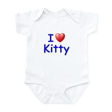 I Love Kitty (Blue) Onesie