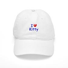 I Love Kitty (Blue) Baseball Cap
