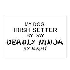Irish Setter Deadly Ninja Postcards (Package of 8)