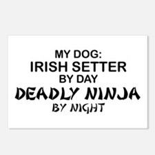 Irish Setter Deadly Ninja Postcards (Package of 8)