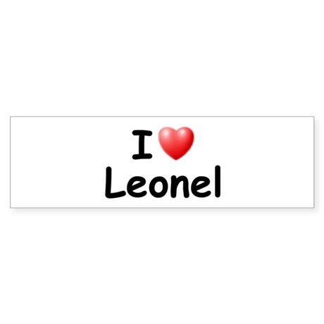 I Love Leonel (Black) Bumper Sticker