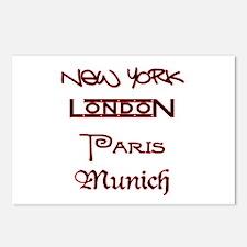 NEW YORK, LONDON, PARIS, MUNICH!  Postcards (Packa