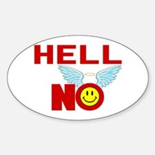 Hell No Oval Decal