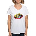 Shuttle STS-123 Women's V-Neck T-Shirt