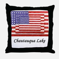 3 Flags Super Imposed Throw Pillow