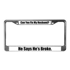 Cute Attitude adult humor funny License Plate Frame