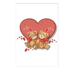Hugs and Kisses Bears Postcards (Package of 8)