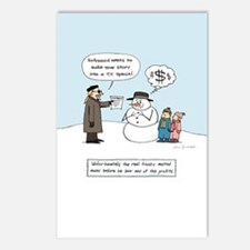 Greedy Frosty Postcards (Package of 8)