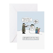 Greedy Frosty Greeting Cards (Pk of 20)