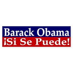 Barack Obama: Si Se Puede sticker