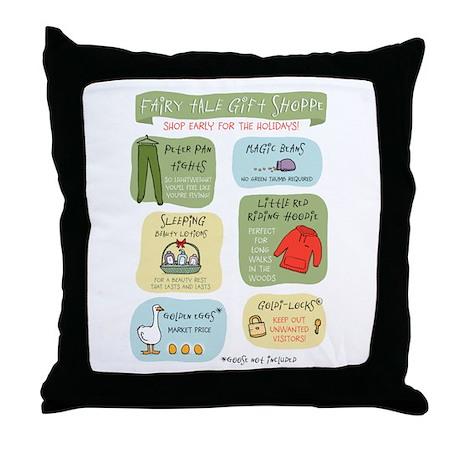 """Fairy Tale Gift Shoppe"" Throw Pillow"