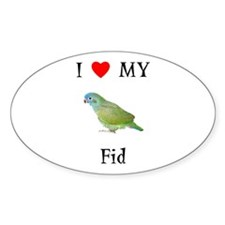 I Love My Fid (Feathered Kid) Oval Decal