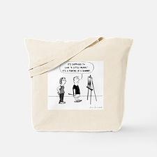 Funny Artist Cartoon Tote Bag