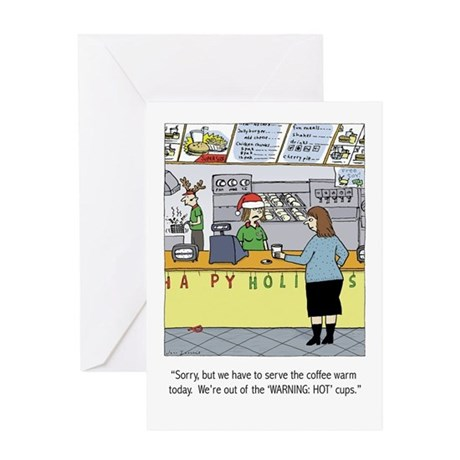 Warm Coffee Holiday Cartoon Greeting Card