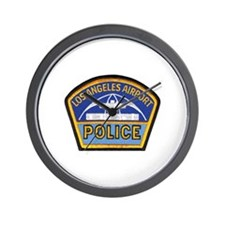 LAX Police Wall Clock