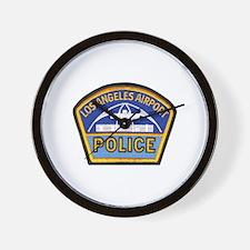 LAX Police Wall Clock