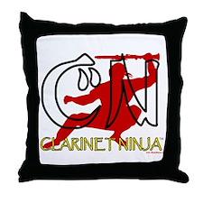 Clarinet Ninja Throw Pillow