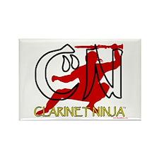 Clarinet Ninja Rectangle Magnet